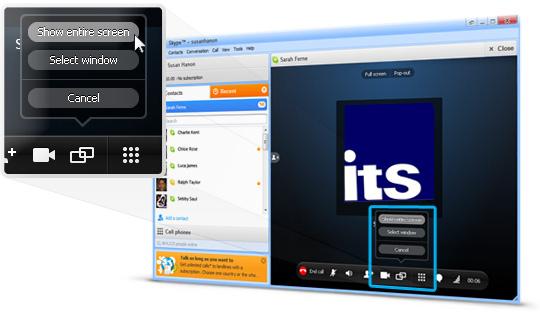 Compartir escritorio con Skype. ITS Duero.