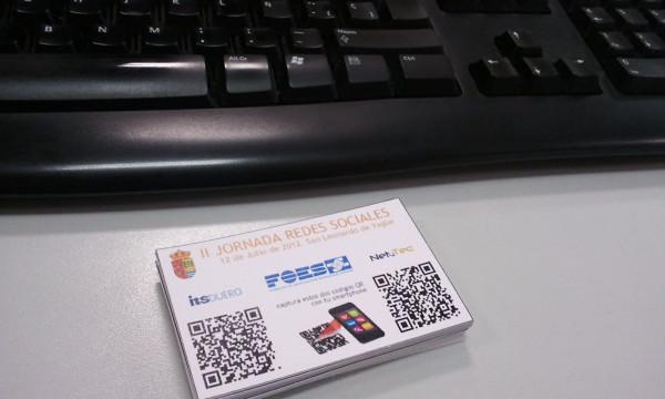 Tarjetas Jornada Redes Sociales San Leonardo de Yagüe. FOES