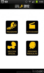 """APP Android Certamen Internacional Cortos """"Ciudad de Soria"""""""