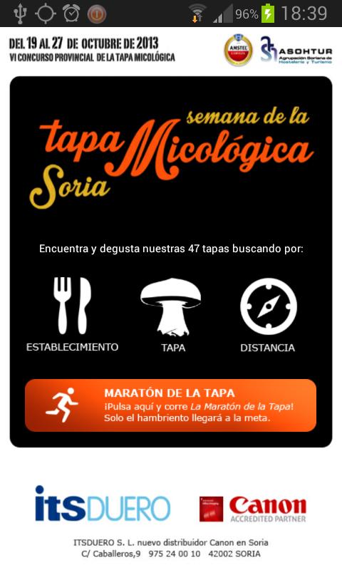 APP Android Tapa Micológica Soria 2013