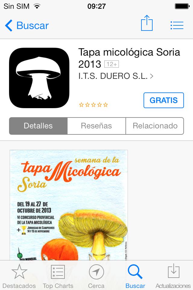 APP Tapa Micológica Soria iOS