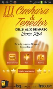 APP Android Cuchara y Tenedor Soria 2014