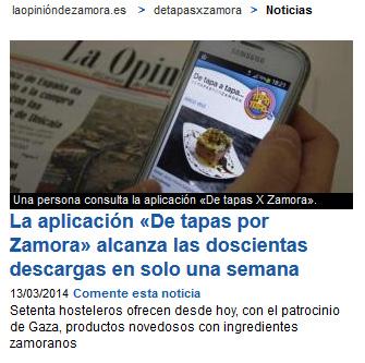 APP De Tapas X Zamora