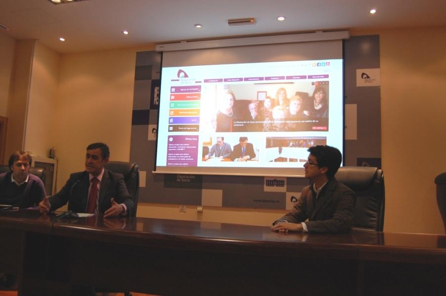 Presentacion nueva web Diputación Soria