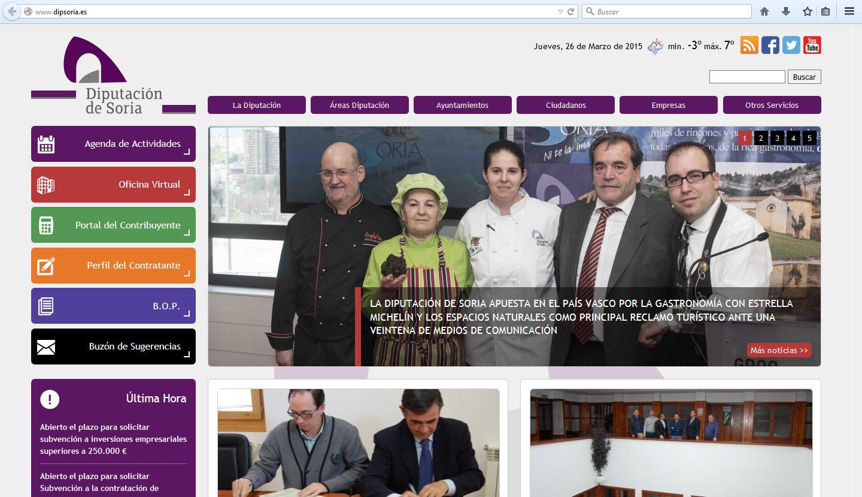 Web Diputación Soria
