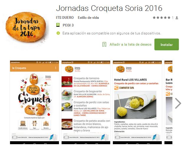 app Android Jornadas Croqueta Soria 2016