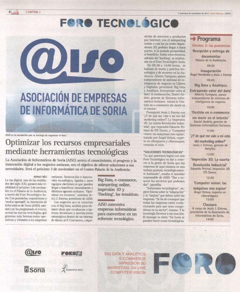 Foro Tecnológico Soria - El Periódico de Castilla y León