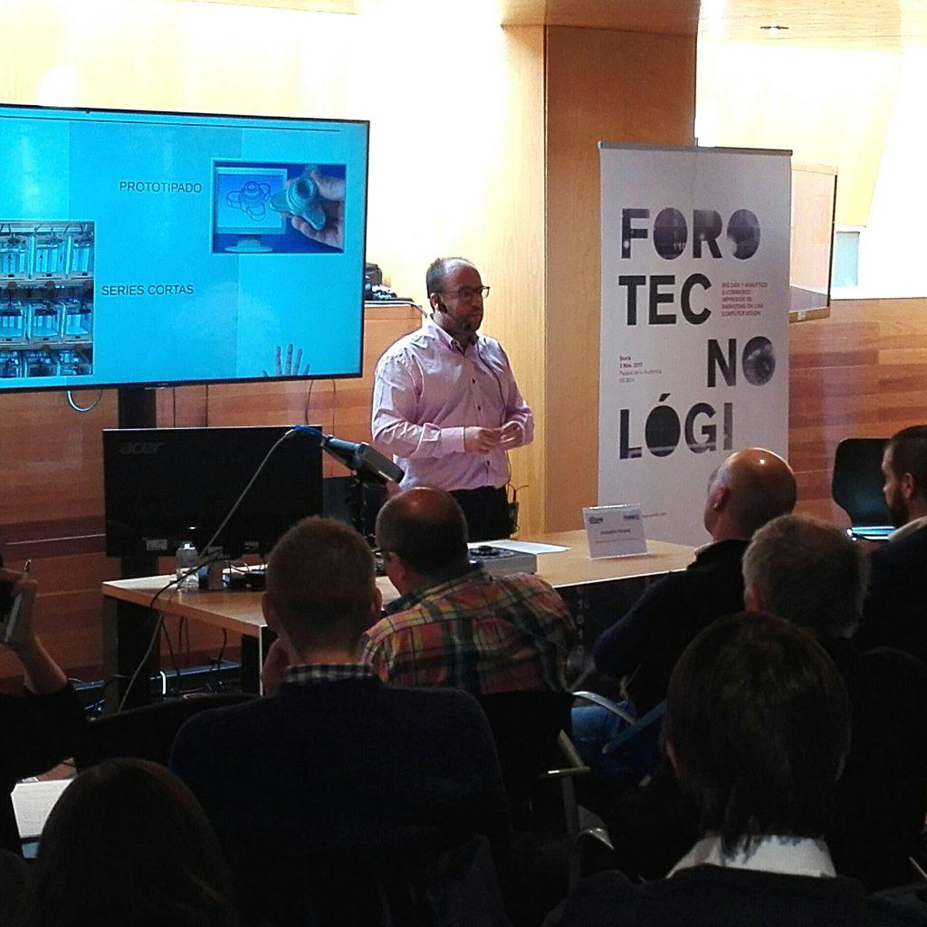 Eduardo Petinal, de ITS Duero, en el Foro Tecnológico de Soria 2017