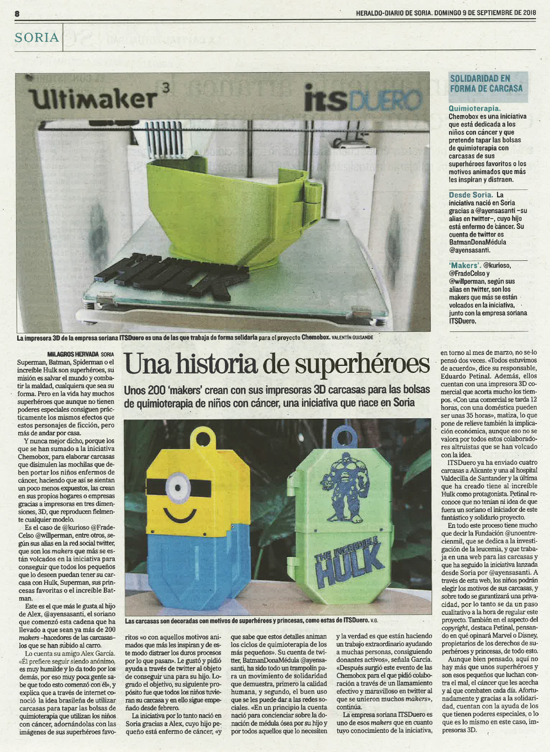 Reportaje ITS Duero Heraldo Diario de Soria