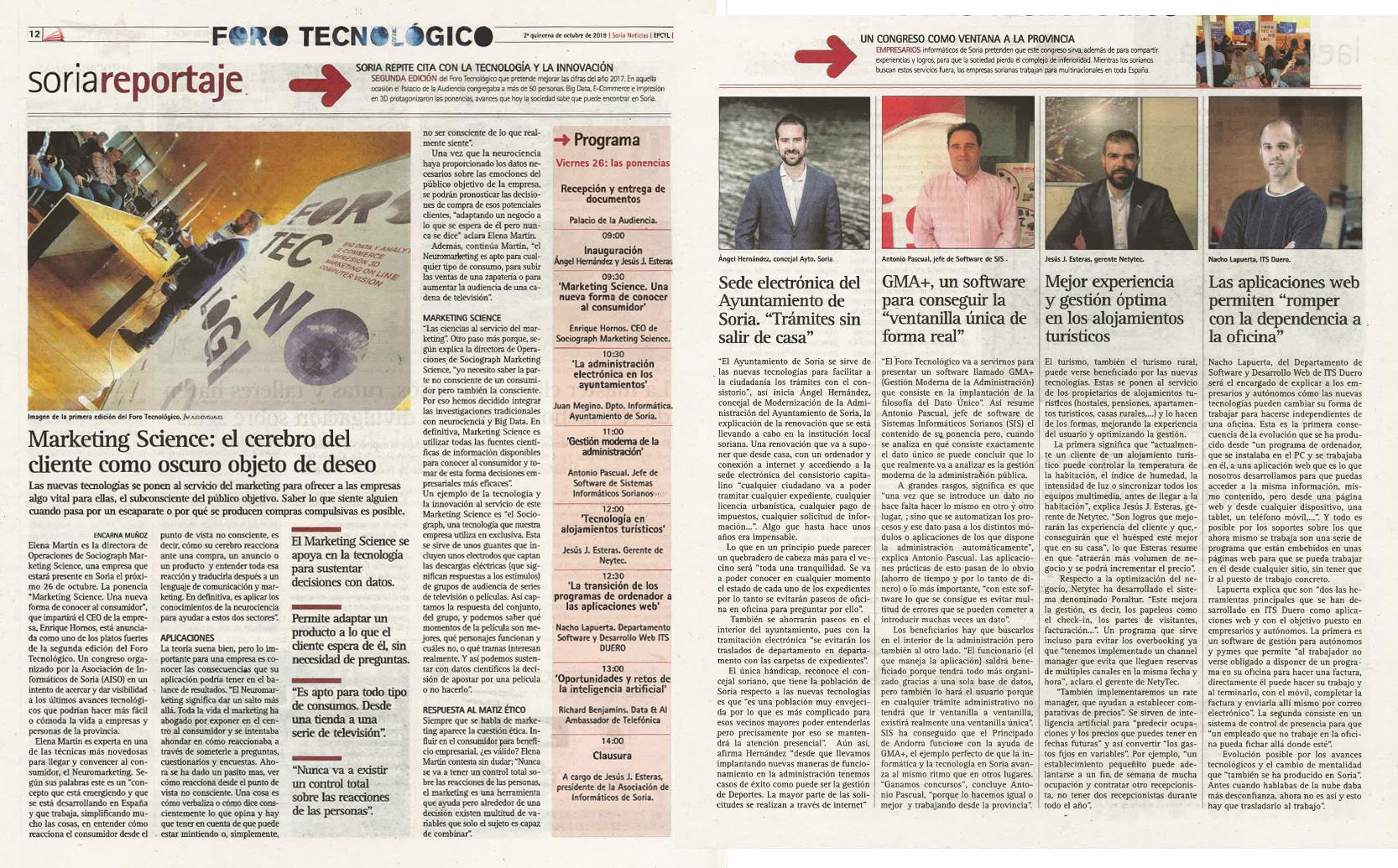 Reportaje II Foro Tecnologico Soria Noticias
